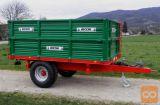 BICCHI 5 ton - enoosna traktorska prikolica