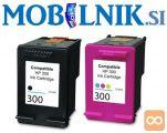 KARTUŠA HP 300 CC640EE črna, HP 300 CC643EE barvna