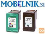 KARTUŠA HP 338 C8765EE črna, HP 343 C8766EE barvna