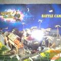 vojaška baza s tanki, letali, raketami...