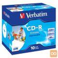 MEDIJ CD-R VERBATIM 10PK printable široke škatlice (43325)