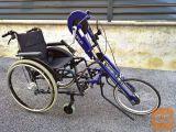 Handbike ročno kolo Sopur + aktivni invalidski voziček Meyra