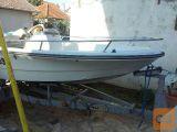 čoln 4 m  z motorjem evenrude 90KS in s prikolico