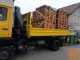 Prodam drva v bukev na paletah z dostavo